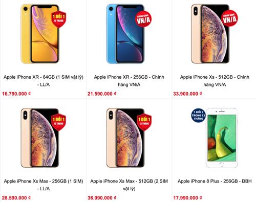 Website của một cửa hàng từng giới thiệu iPhone xách tay mã LL/A nhưng đã gỡ loạt sản phẩm này sau vụ Nhật Cường Mobile.