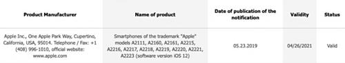 Có tới 11 phiên bản iPhone mang mã hiệu lạ vừa được đăng ký với EAC.