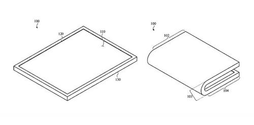 Sáng chế về thiết bị màn hình gập Apple nhận được.