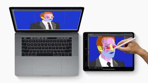 macOS Catalina 10.15 cho phép dùng iPad làm màn hình phụ.