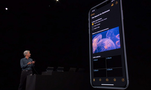 Dark mode trên iOS 13.