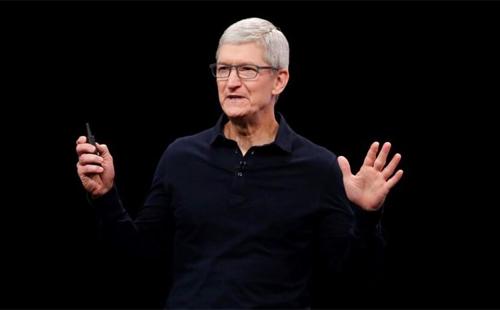 Tim Cook, CEO Apple. Ảnh: AP.