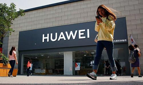 Một cửa hàng của Huawei tại Trung Quốc.