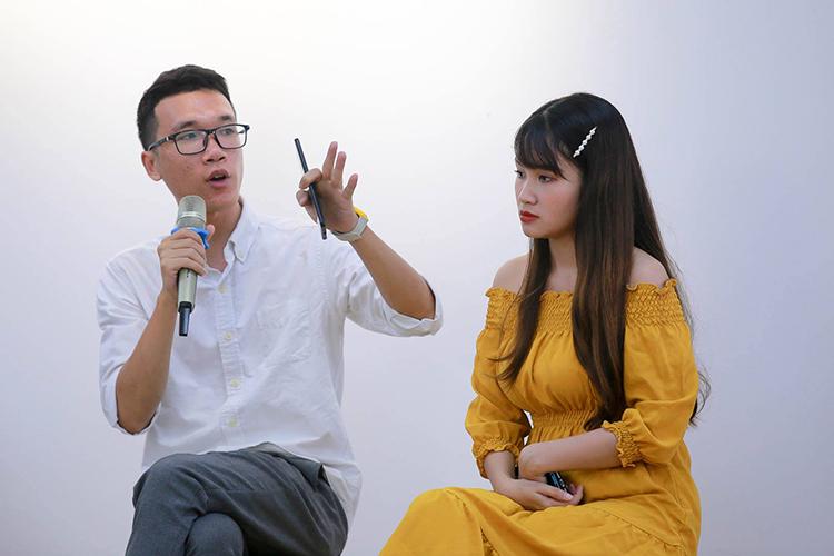 Vinh Vật Vờ và Phương Anh Payo chia sẻ tại sự kiện.
