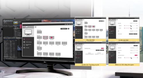 Màn hình LG 29WK500 UltraWide chuẩn màu với tính năng OnScreen Control độc quyền của LG.