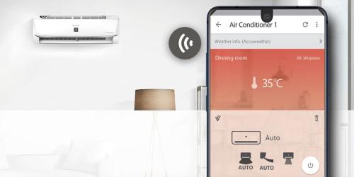 Công nghệ AIoT khi tích hợp vào máy lạnh giúp điều khiển từ xa bằng điện thoại, tùy chỉnh mọi chức năng bằng một cú chạm.