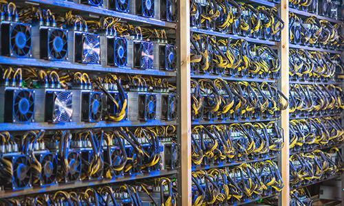 Một xưởng máy đào Bitcoin. Ảnh: CCN