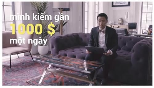 Clip quảng cáo về ứng dụng Binomo xuất hiện trên YouTube.