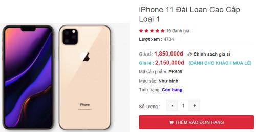 iPhone 11 Đài Loan được rao bán trên mạng với giá rất rẻ.
