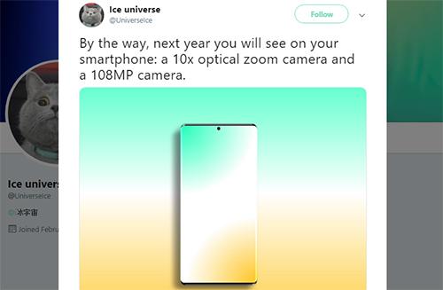 Điện thoại với camera 108 megapixel có thể ra mắt năm sau - ảnh 1