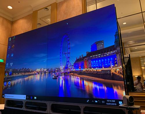 Màn hình DLP LED Display Wall với độ nét cao của Mitsubishi Electrics.
