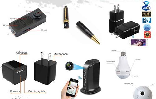 Những thiết bị quay lén được đặt trong vỏ bọc của các sản phẩm thông dụng.