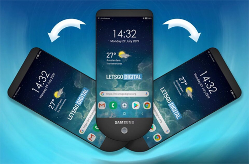 Samsung thiết kế smartphone xòe quạt - 1