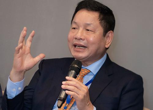 Ông Trương Gia Bình, Chủ tịch FPT, tại phiên thảo luận của WEF.