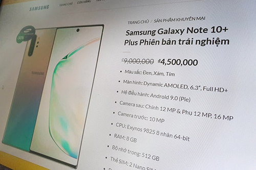 Galaxy Note10+ giá hơn 4 triệu trên website giả Samsung Việt Nam - ảnh 1