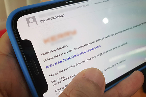 Đoạn email mạo danh được gửi đến hàng loạt nhân viên của một công ty.