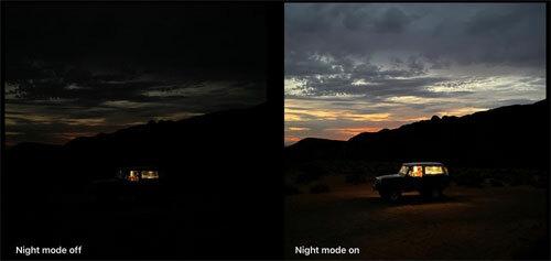 Ảnh quảng cáo của Apple về chế độ Night Mode.