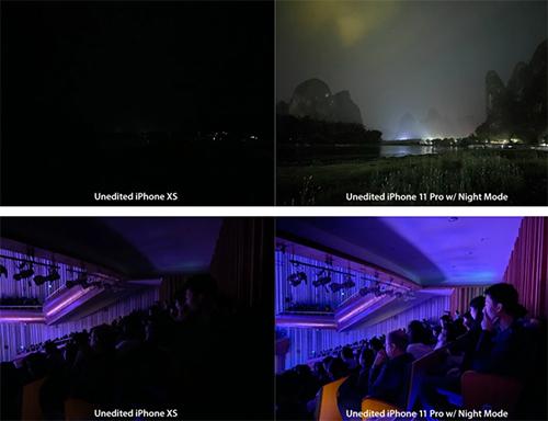 iPhone 11 Pro so sánh chế độ chụp đêm với iPhone XS.