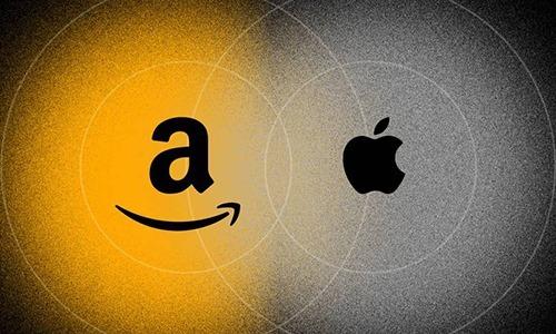 Apple và Amazon đang đối đầu trên đấu trường mới. Ảnh: Wired.