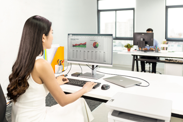 Màn hình tích hợp đa kết nối HP EliteDisplay cho văn phòng - ảnh 1