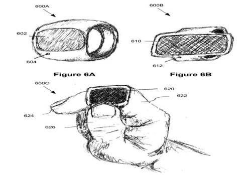 Ảnh mô tả thiết bị đeo tay trong hồ sơ đăng ký bằng sáng chế của Apple.