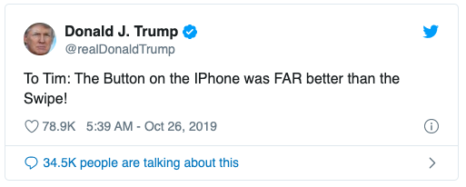 Donald Trump trách Tim Cook vì loại phím Home trên iPhone - ảnh 1