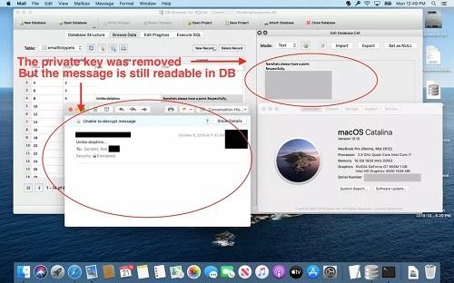 Một phần e-mail mã hóa được hệ thống giải mã để trợ giúp cho Siri. Ảnh: Forbes