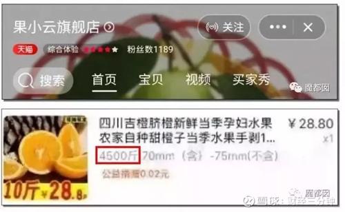 Cửa hàng Quả Tiểu Vân sơ suất đặt khối lượng 4.500 cân cam giá 28,8 tệ, giá sau khuyến mãi là 26 tệ (86.000 đồng).