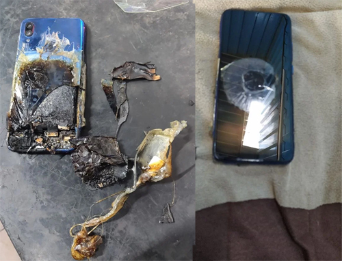 Điện thoại Redmi Note 7S bốc cháy tại Ấn Độ.