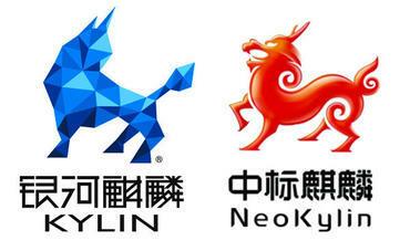 Logo của hệ điều hành Kylin (bên trái) và NeoKylin (bên phải).