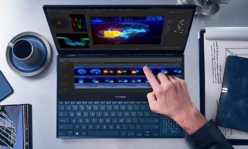 Asus ZenBook Pro Duo UX581. Ảnh: Xataka.