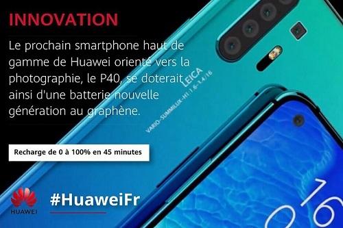Bài đăng quảng bá về P40 Pro của chi nhánh Huawei tại Pháp. Ảnh: Phone Arena.