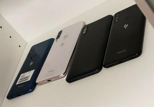 Một số mẫu điện thoại mang logo Vsmart, trong đó có sản phẩm giới chiếc Bee 3 vừa ra mắt tại Việt Nam.Ảnh: 4pda