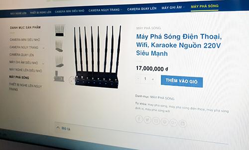 Một thiết bị gây nhiễu sóng Wi-Fi được bán trên website thương mại điện tử.