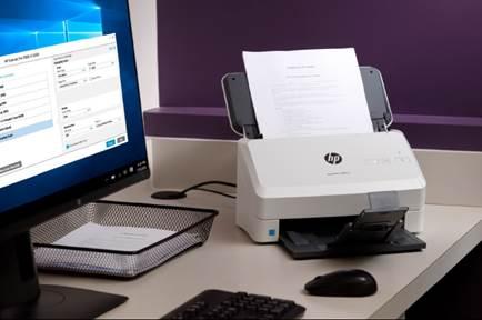Máy scan HP giúp doanh nghiệp số hóa tài liệu