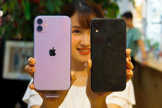 iPhone 11 và iPhone XR bán chạy nhấtthế giới nhưng không được chuộng tại Việt Nam. Ảnh: Lưu Quý