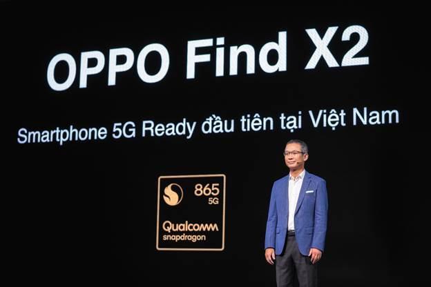 Ông Thiều Phương Nam - Tổng giám đốc Qualcomm Đông Dương nói về vi xử lý Snapdragon 865 trong sự kiện ra mắt Oppo Find X2 tại TP HCM.
