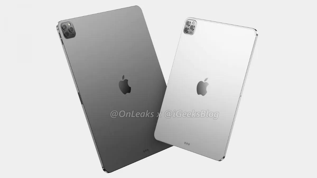 Hình dung về bộ đôi iPad Pro 11 và 12,9 inch mới. Ảnh: Onleaks.