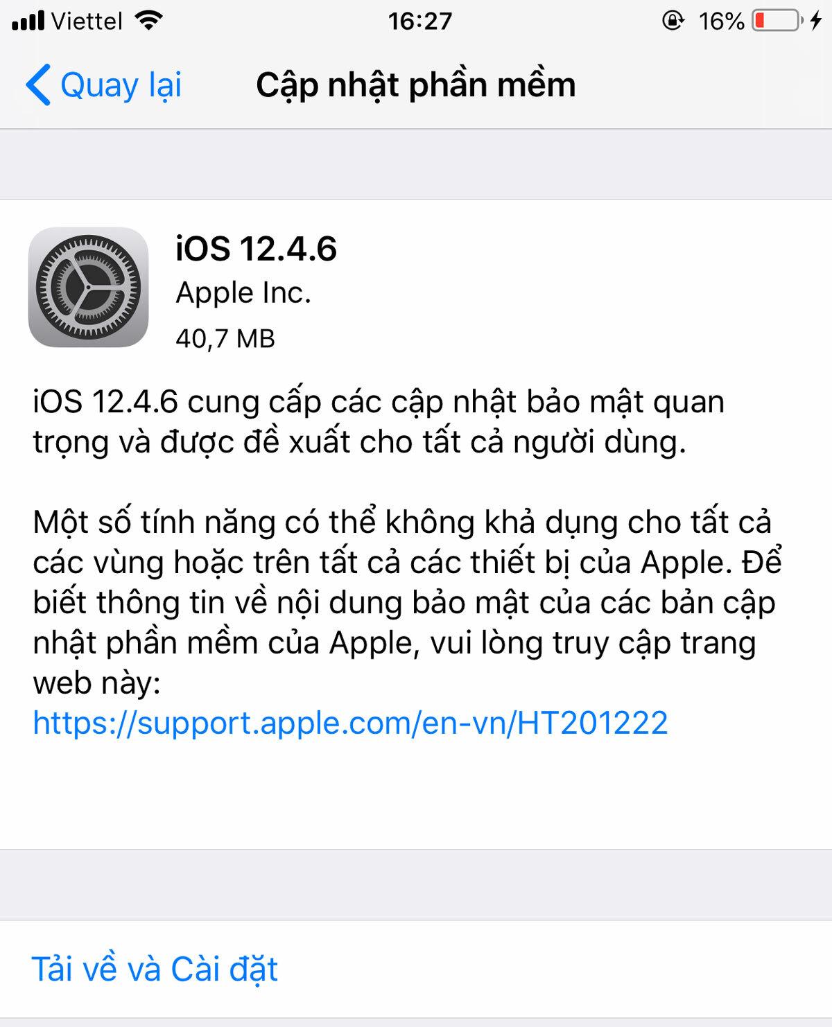 iPhone 5s được cập nhập iOS mới - ảnh 1