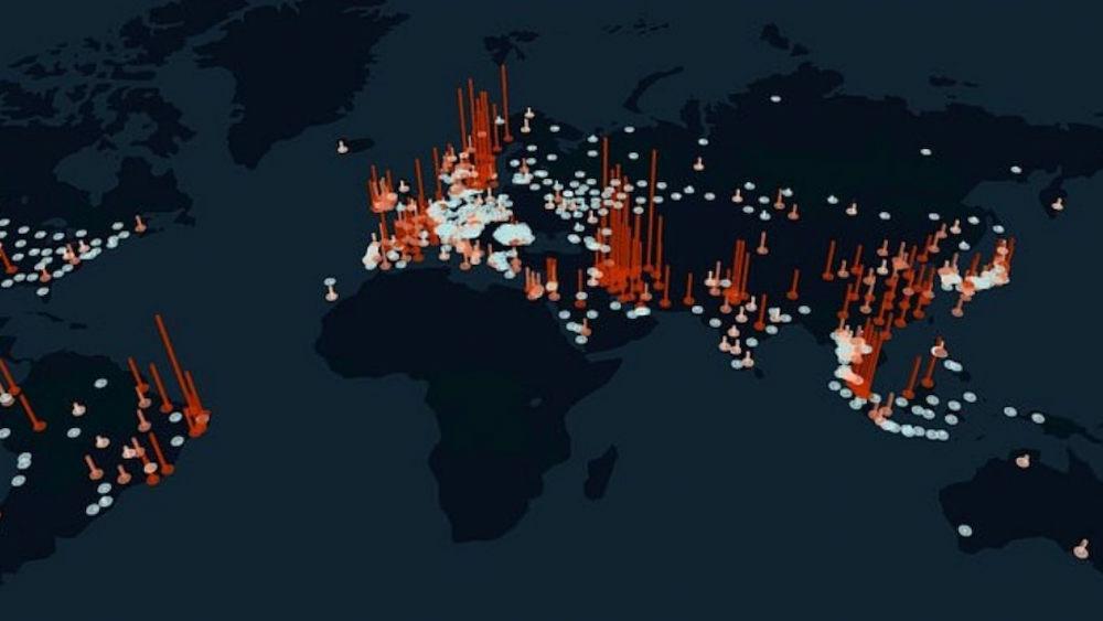 Lưu lượng sử dụng Internet tăng trên toàn cầu. Ảnh: KASPR Datahaus.