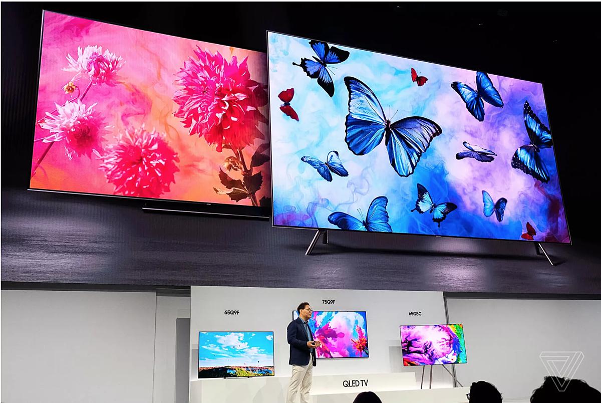 Samsung từ bỏ màn hình LCD và đặt cược vào màn hình chấm lượng tử. Ảnh: The Verge.