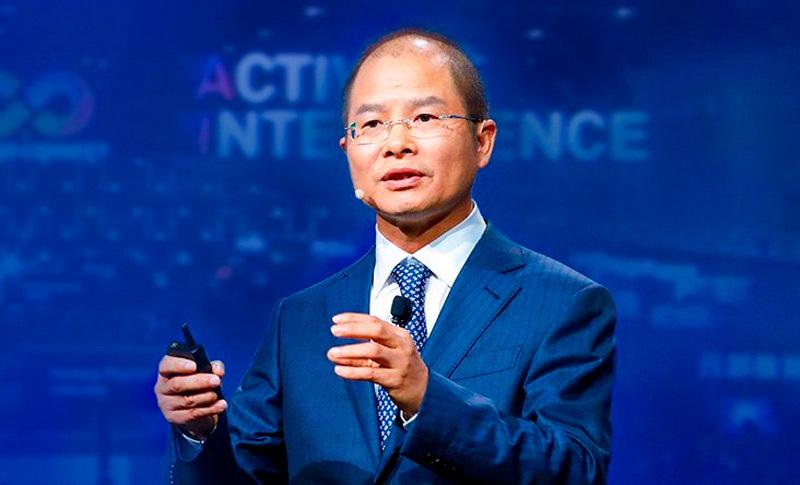 Chủ tịch luân phiên của Huawei, ông Eric Xu. Ảnh: Weixin.