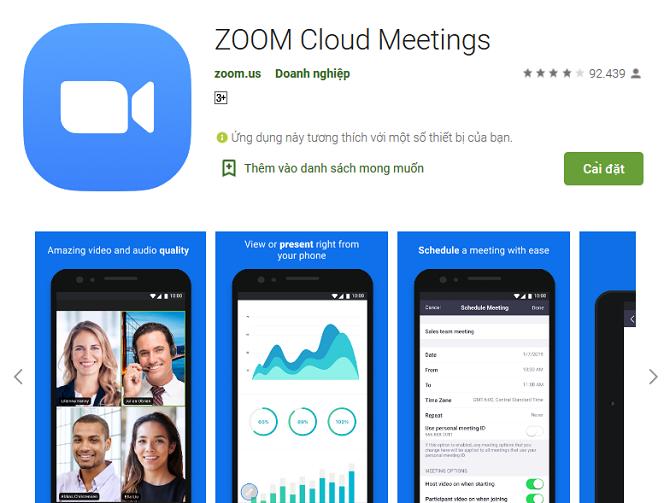Zoom Cloud Meeting đạt hơn 100 triệu lượt tải trên Google Play Store.