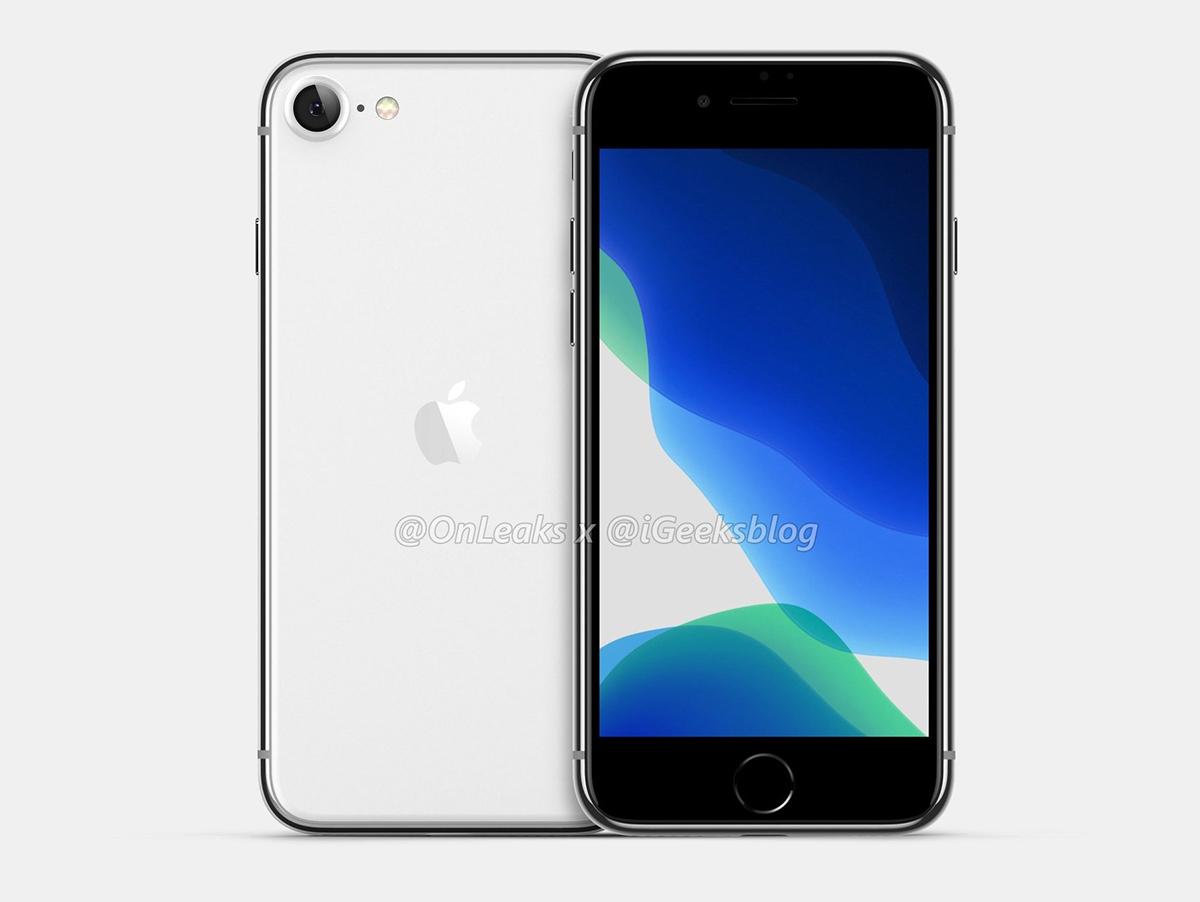 iPhone SE mới được hình dung dựa trên các tin đồn. Ảnh: OnLeaks.