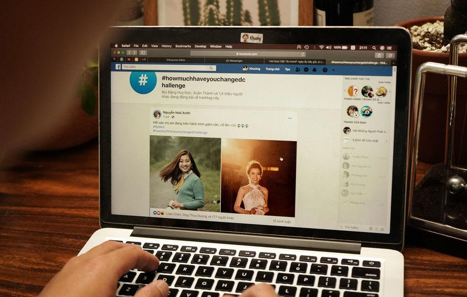 Thử thách How much have you changed đang được người dùng Facebook khắp thế giới hưởng ứng.