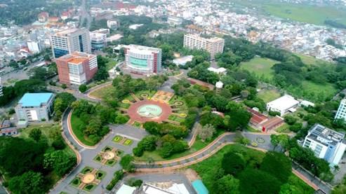 Một góc công viên phần mềm Quang Trung. Ảnh: QTSC.
