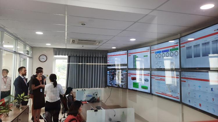 Trung tâm giám sát điều hành Công viên phần mềm Quang Trung.